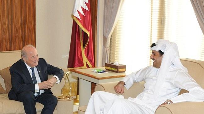 Sepp Blatter, Emir of Qatar